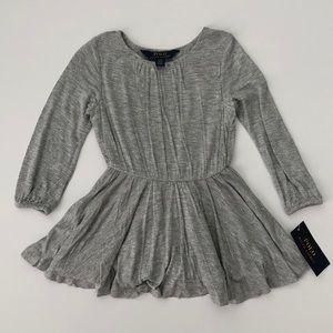 NWT Polo Ralph Lauren Gray Skater Dress - Size 2T